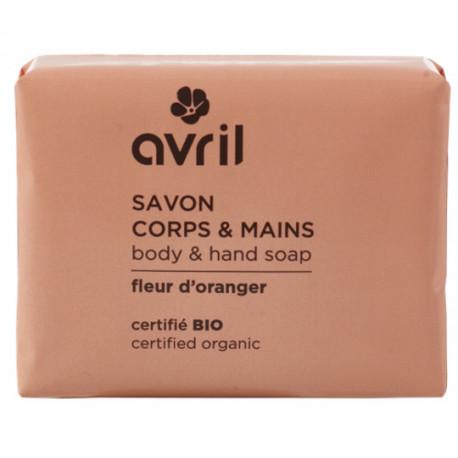 Savon de Provence Fleur d'oranger 100 gr Avril beauté savon traitant Bio sante senior