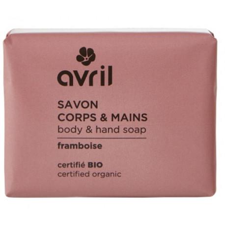Savon de Provence Corps et Mains Framboise 100 gr Avril beauté savon traitant coco argan Bio sante senior
