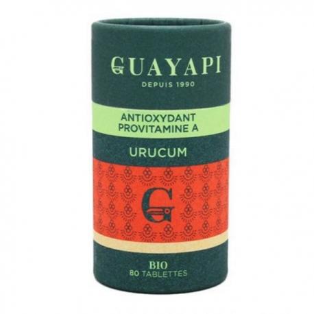 Urucum caroténoides 80 tablettes 600 mg Guayapi bixine selenium Bio sante senior