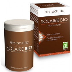 Solaire bio Hâle naturel 60 comprimés Phytoceutic dunaliella tomate Bio sante senior