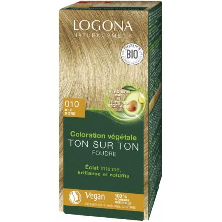 Coloration Végétale Ton sur Ton 010 Blé doré 100gr Logona