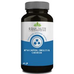 Cheveux Complexe N° 14 60 gélules végétales Equi Nutri Bio sante senior