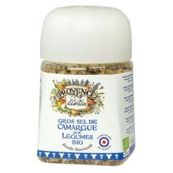 Gros sel de Camargue aux légumes bio Recharge 90gr Provence d'Antan alimentation bio sante senior