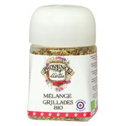 Mélange Grillade bio pot végétal biodégradable 30 gr Provence d'Antan viandes poissons Bio sante senior