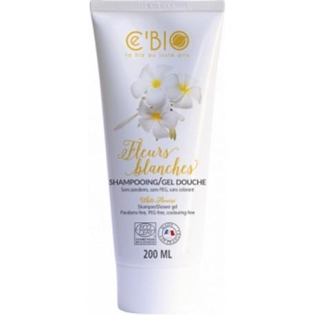 Shampooing gel douche Fleurs Blanches 200ml C'Bio