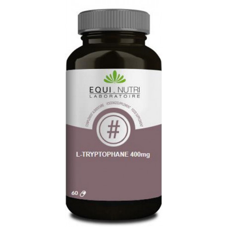 L Tryptophane 400mg 60 gélules végétales Equi nutri précurseur de serotonine Bio sante senior