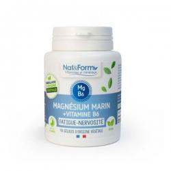 Magnésium marin Vitamine B6 40 gélules Nat et Form, magnésium vitamine B6, bio sante senior