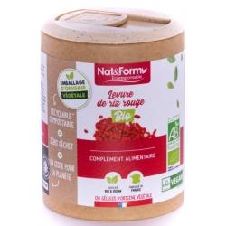 Levure de riz rouge Bio 120 gélules - Nat et Form monacoline K Bio sante senior