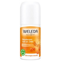 Déodorant roll on 24h Argousier 50ml Weleda mandarine orange Bio sante senior