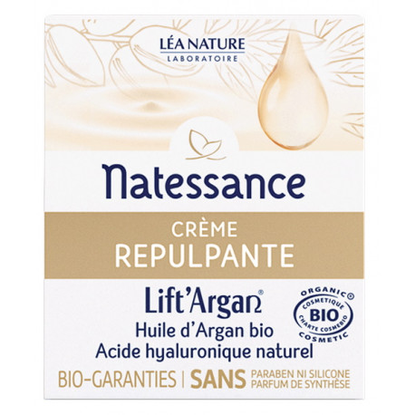 Crème Repulpante Anti rides Lift'Argan 50 ml Natessance anti-âge bio sante senior