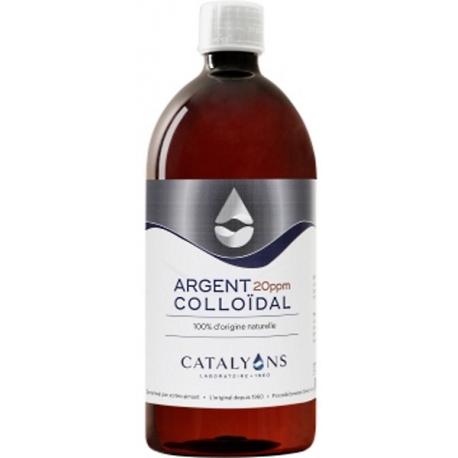 Oligo élément Argent colloïdal 20 PPM Catalyons 1000 ml