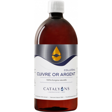 Oligo éléments CUIVRE OR ARGENT Catalyons 1000 ml