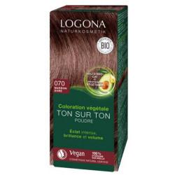 Coloration végétale Ton sur Ton en poudre 070 Marron doré 100g Logona soin colorant bio sante senior