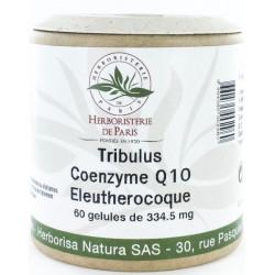 Tribulus Coenzyme Q10 Eleuthérocoque 60 Gélules Herboristerie de paris homme virilité Bio sante senior