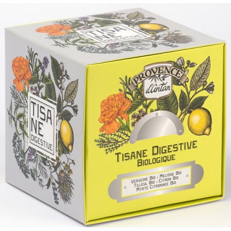 Tisane Be Cube Digestive bio 24 sachets recharge carton Provence d'Antan ballonnement digestion Bio sante senior
