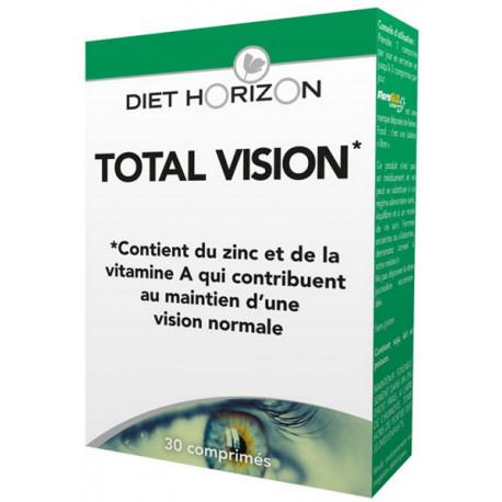 Total Vision 30 comprimés Diet Horizon lutéine béta carotène bio sante senior