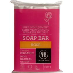 Savon à la Rose de Damas 100 gr Urtekram hygiène ecocert Bio sante senior