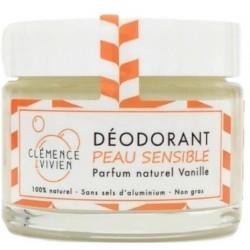 Baume déodorant Peau sensible à la Vanille 50gr Clemence et Vivien déodorant naturel Bio sante senior