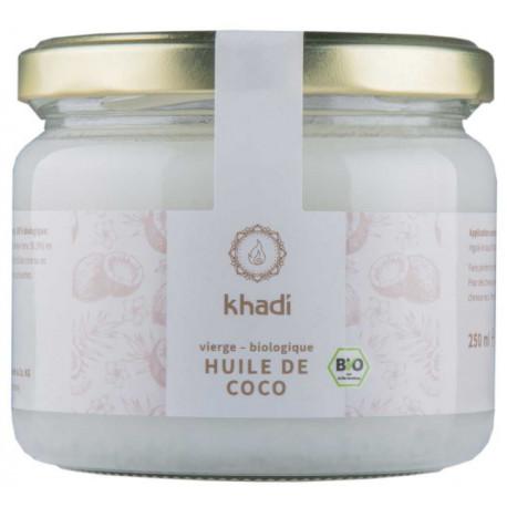 Huile de Coco Extra Vierge 250gr KHADI hydratation cheveux Bio sante senior