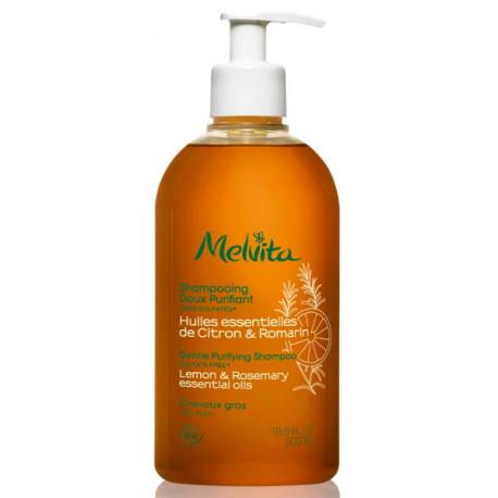 Shampooing doux purifiant 500 ml Melvita huiles essentielles pureté Bio sante senior