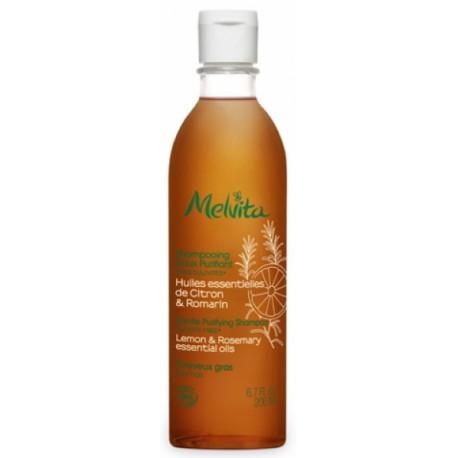 Shampooing doux purifiant 200 ml Melvita pureté cheveux gras Bio sante senior