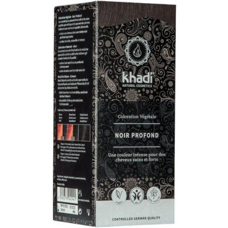 Coloration végétale Noir Profond 100 gr Khadi soin colorant Bio sante senior