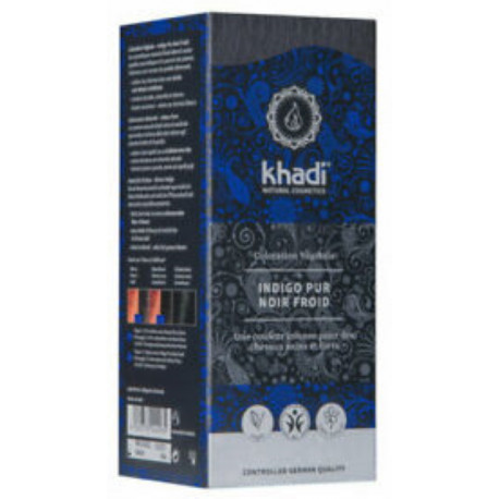 Coloration végétale Indigo Pur Noir Froid 100 gr Khadi teinture végétale bio sante senior