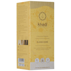 Coloration végétale Blond Doré 100 gr Khadi reflets dorés fugaces et futiles Bio sante senior