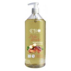 Shampooing douche Pêche blanche 1 Litre C'Bio shampoing bio sante senior