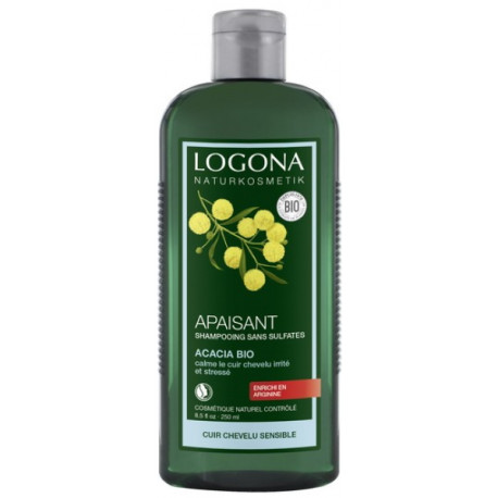 Shampooing Apaisant à l'acacia bio 250 ml Logona cuirs chevelus irrités et stressés Bio sante senior
