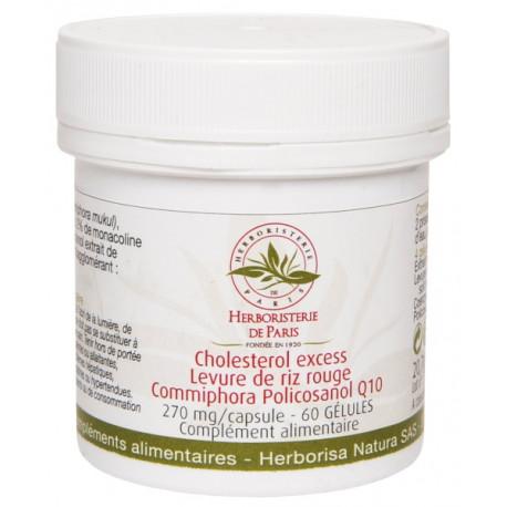 Levure de riz rouge Commiphora Policosanol Q10 60 gélules Cholesterol Excess