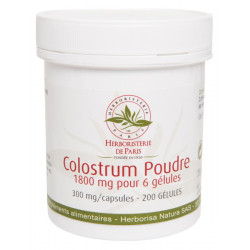 Colostrum Poudre 200 Gélules Herboristerie de Paris immunité vitalité Bio sante senior