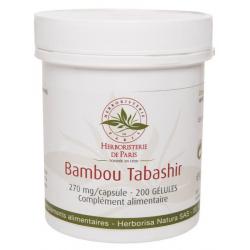 Bambou Tabashir silicium organique 200 gélules Herboristerie de Paris extrait de bambou Bio sante senior