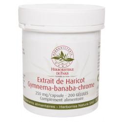 Gluci silhouette Extrait de Haricot Gymnema Banaba Chrome 200 Gélules Herboristerie de paris sucres Bio santé sénior