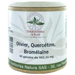 Olivier Quercétine Bromélaïne 90 Gélules Herboristerie de Paris calme tension oleuropéine Bio sante senior