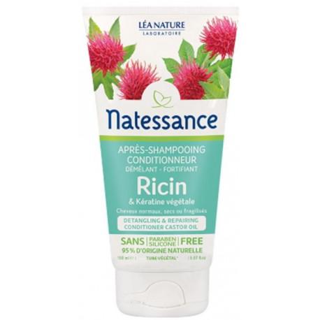 Après Shampoing conditionneur démêlant fortifiant Ricin Kératine Végétale 150 ml Natessance Bio sante senior