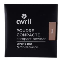Poudre compacte Dorée 7 gr Avril Beauté maquillage minéral Bio sante senior