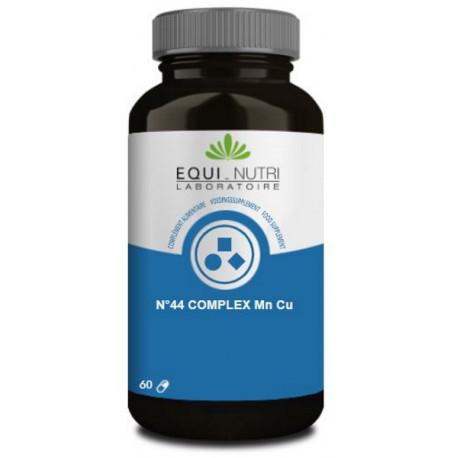 N°44 complexe Manganèse Cuivre 60 gélules végétales Equi Nutri tissu conjonctif métabolisme Bio sante senior