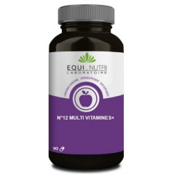 No 12 Multi-Vitamines Plus Ginseng  90 gelules Equi - Nutri complexe vitaminique Bio santé sénior