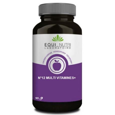 No 12 Multi-Vitamines Plus Ginseng  90 gelules Equi - Nutri complexe vitaminique Bio santé sénior