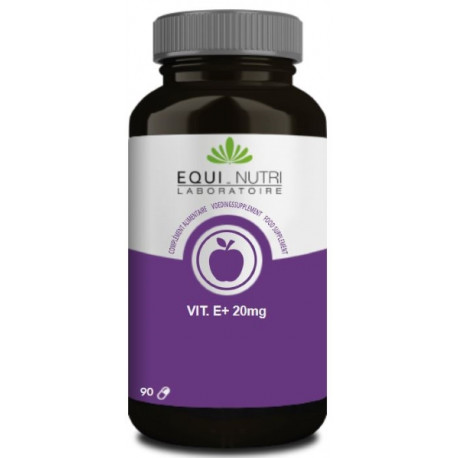 Vitamine E Naturelle 20mg 90 gélules végétales Equi Nutri Bio sante senior