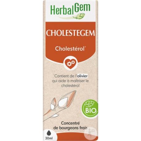 Cholestegem Bio Flacon compte gouttes 50 ml Herbalgem gemmothérapie Bio santé sénior