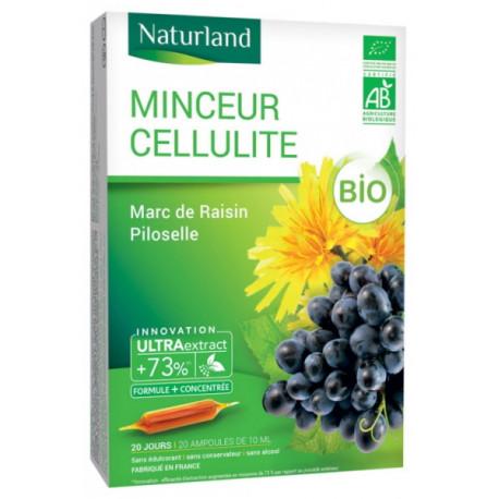 MINCEUR CELLULITE Bio Marc de Raisin Piloselle Bio AMPOULES Naturland