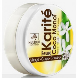 Beurre de Karité Coco Monoï 150 ml Naturado hydratation et plaisir Bio sante senior
