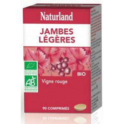 Vigne rouge Bio Jambes légères 90 COMPRIMES Naturland, biosantesenior.fr