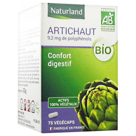 Artichaut - BIO - 75 Gélules Végécaps - Naturland poudre et extrait Bio santé sénior