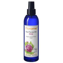 Eau florale de Rose bio brumisateur 200 ml Florame rosa damascena anti-âge Bio sante senior