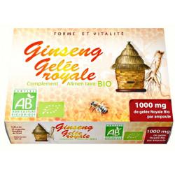Gelée Royale et Ginseng bio 20 ampoules GPH Diffusion