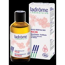 Huile de Ricin bio 100ml Ladrôme cheveux, ongles, barbe, cils peau Bio sante senior