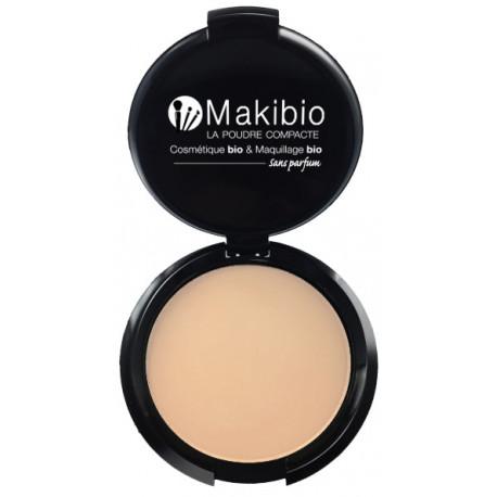 Poudre compacte Claire 9 gr Makibio maquillage minéral Bio santé sénior